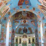 В храме преподобного Сергия Радонежского подходит к завершению роспись стен