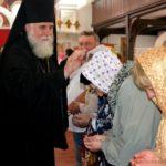 Епископ Николай возглавил Божественную литургию в храме Адриана и Наталии