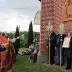 Фасад храма в Краснознаменске украсился иконой Спасителя