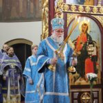 В праздник Благовещения епископ Николай возглавил божественную литургию в кафедральном соборе Архангела Михаила