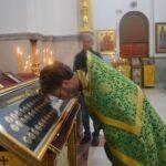 Мощи Киево-Печерских святых в соборе Трех Святителей